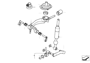 Commande boîte vit.manuelle/diesel