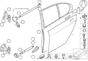後車門 - 鉸鏈/車門緩衝器