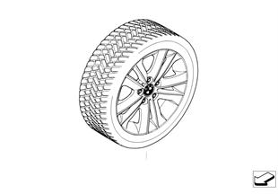 整套冬季車輪 V 形輪輻 141