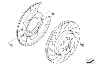 R ブレーキ - ブレーキディスク、孔あり