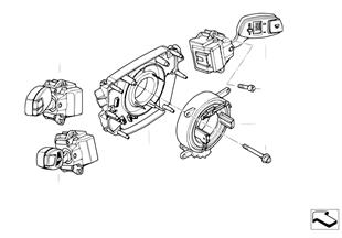 Steering column switch/control unit