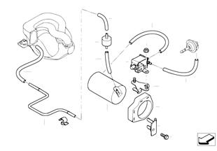 Unterdrucksteuerung-Unterdruckleitung