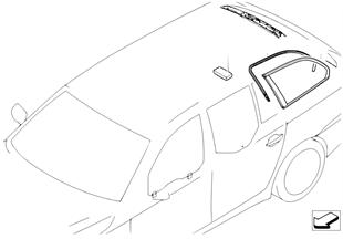 Side window, fixed position