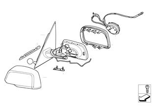 Rétroviseur extérieur (option S430A)