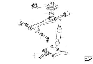 Mecanismo caixa vel. manual/diesel