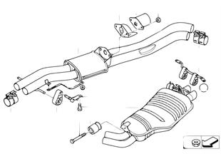 Výfukové potrubí zadní