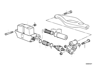 Ahk/drive motor/attaching parts