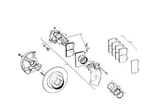 Bremsscheibe/Sattel/Anbauteile/vorne