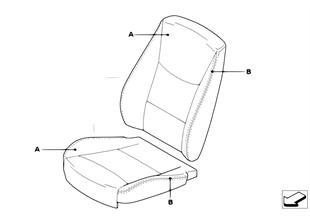 標準座椅個性化座套 前部