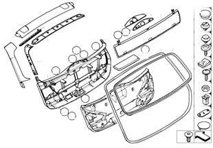트림 패널,트렁크 리드