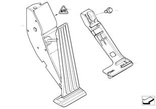 Aceleración/módulo de pedal acelerador