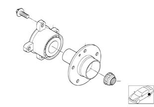 Achteras/legering van het wiel