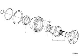 Flange de arrasto-apoio/anel vedante