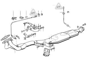 촉매기가 설치된 배기시스템