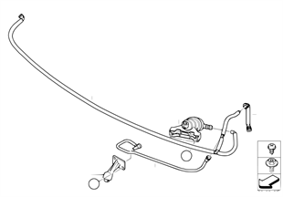 Hose lines, headlight washer system