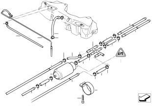 Tuyau combustible/pompe Diesel