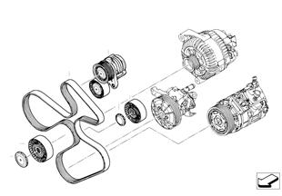 Riemdrijfwerk-dynamo/ A/C/stuurbekr.