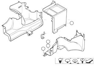 Revestimiento fondo de la maleta lateral