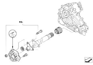 Drive shaft, front, single parts