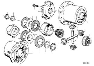 차동제한장치유닛-개별 부품
