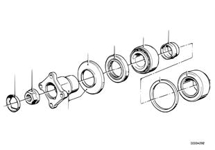 Hnací příruba-uložení/těsnicí kroužek