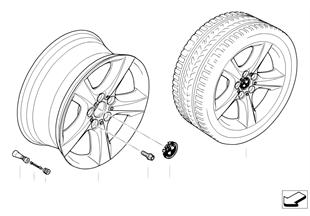 BMW경합금휠,성형스파이더 210