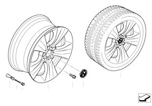 BMW LA wheel, star spoke 213