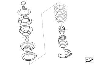 Apoio/prato suporte mola/peças mont.