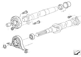 Pieces d'arbre de transm. 4 roues motr.