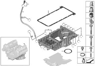 Ölwanne Oberteil/Ölmessvorrichtung