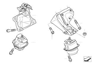 Uložení motoru