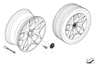 BMW LA wheel, dual spoke 215