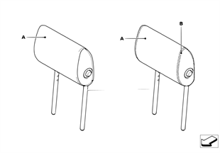 Indiv. folding headrest, basic seat, rear
