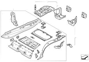 Dno zavazadlového prostoru montážní díly