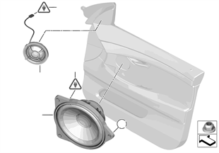 Pezzi singoli porta anter.sistema hifi