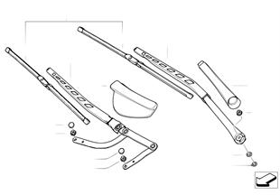 Composants de bras d'essuie-glace