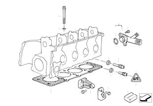 Головка блока цилиндров-доп.элементы