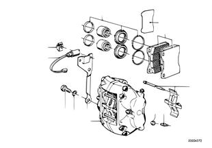 Čidlo brzdového obložení přední brzdy