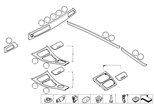 Interieurleisten Aluminium Längsschliff