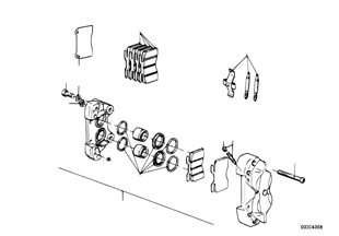 Brzda př. kola-třmen kotoučové brzdy