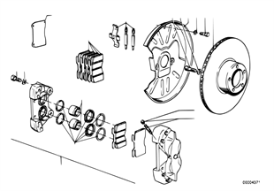 Vorderradbremse-Bremssattel