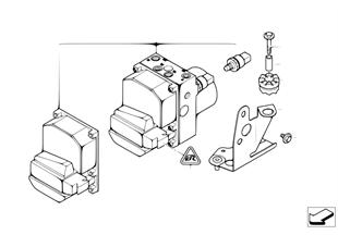 Hydroaggregat DSC/Steuergerät/Halterung