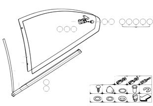Door window lifting mechanism rear
