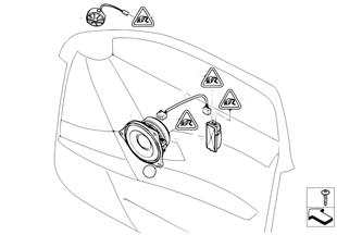 Sist. audio individual puerta delantera