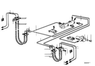 Brzdové potrubí přední/uchycení