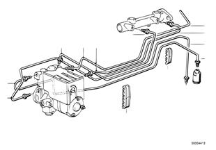 Трубопровод тормозного привода c ABS Пд