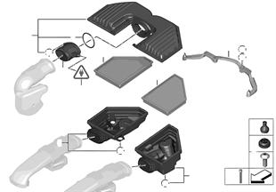 Ansauggeräuschdämpfer/Filtereinsatz/HFM