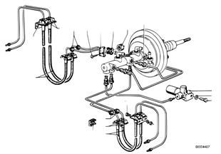 Bremsleitung vorne/Befestigung