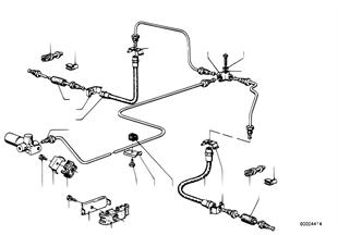 Brzdové potrubí zadní/uchycení