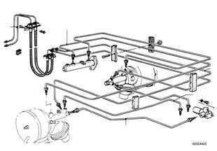 Brzdové potrubí přední